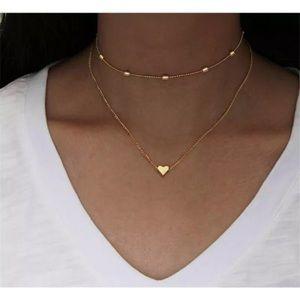 New Tiny Gold Heart 🦚 Necklace